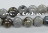 CAG973 15.5 inches 10mm round bamboo leaf agate gemstone beads