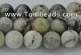 CAG9732 15.5 inches 8mm round black & white agate beads wholesale