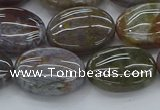 CAG9742 15.5 inches 13*18mm oval Indian agate beads wholesale
