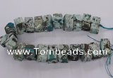 CAG9751 15.5 inches 15*28mm - 17*30mm cuboid ocean agate beads