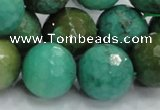 CAG976 15.5 inches 20mm faceted round green grass agate gemstone beads
