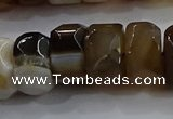 CAG9776 15.5 inches 8*16mm faceted rondelle agate gemstone beads