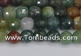 CAG9831 15.5 inches 6mm faceted round Indian agate beads