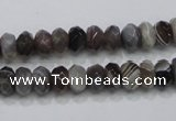 CAG988 15.5 inches 5*8mm faceted rondelle botswana agate beads