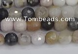CAG9896 15.5 inches 4mm faceted round parrel dendrite agate beads