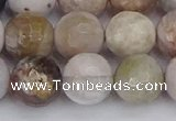 CAG9899 15.5 inches 10mm faceted round parrel dendrite agate beads