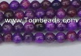 CAG9917 15.5 inches 4mm round purple crazy lace agate beads