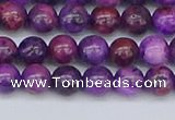 CAG9918 15.5 inches 6mm round purple crazy lace agate beads