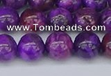 CAG9919 15.5 inches 8mm round purple crazy lace agate beads