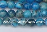 CAG9932 15.5 inches 6mm round blue crazy lace agate beads