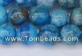 CAG9934 15.5 inches 10mm round blue crazy lace agate beads