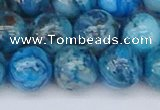 CAG9935 15.5 inches 12mm round blue crazy lace agate beads
