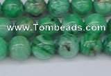 CAG9940 15.5 inches 8mm round green crazy lace agate beads