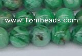 CAG9942 15.5 inches 12mm round green crazy lace agate beads