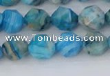 CAG9958 15.5 inches 8mm faceted nuggets blue crazy lace agate beads