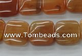 CAJ115 15.5 inches 16*16mm square red aventurine jade beads