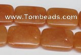 CAJ159 15.5 inches 18*25mm rectangle red aventurine jade beads