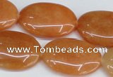 CAJ162 15.5 inches 20*30mm oval red aventurine jade beads