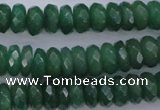 CAJ17 15.5 inches 7*12mm faceted rondelle green aventurine beads