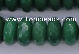 CAJ20 15.5 inches 10*20mm faceted rondelle green aventurine beads