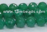 CAJ25 15.5 inches 14mm faceted round green aventurine beads