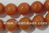 CAJ355 15.5 inches 14mm round red aventurine beads wholesale