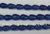 CAJ571 15.5 inches 6*8mm teardrop blue aventurine beads wholesale