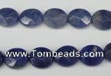 CAJ580 15.5 inches 10*12mm faceted oval blue aventurine beads wholesale
