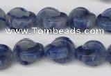 CAJ582 15.5 inches 12*12mm curved moon blue aventurine beads wholesale