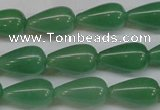 CAJ633 15.5 inches 10*18mm teardrop green aventurine beads