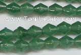 CAJ655 15.5 inches 8*8mm bicone green aventurine beads