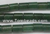 CAJ657 15.5 inches 8*10mm tube green aventurine beads
