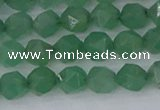 CAJ731 15.5 inches 6mm faceted nuggets green aventurine beads