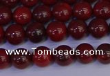 CAJ751 15.5 inches 6mm round apple jasper beads wholesale