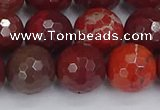 CAJ762 15.5 inches 12mm faceted round apple jasper beads