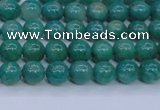 CAM1300 15.5 inches 4mm round natural Russian amazonite beads
