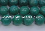 CAM1303 15.5 inches 10mm round natural Russian amazonite beads