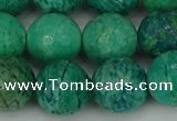 CAM1405 15.5 inches 14mm faceted round Russian amazonite beads