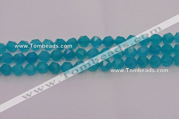 CAM1433 15.5 inches 10mm faceted nuggets dyed amazonite gemstone beads