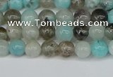 CAM1480 15.5 inches 4mm round Madagascar black amazonite beads