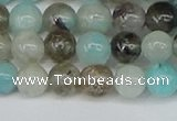 CAM1481 15.5 inches 6mm round Madagascar black amazonite beads