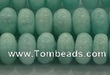 CAM1534 15.5 inches 7*12mm rondelle natural peru amazonite beads