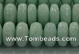 CAM1545 15.5 inches 8*14mm faceted rondelle peru amazonite beads