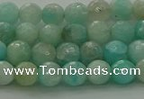 CAM1561 15.5 inches 6mm faceted round Russian amazonite beads