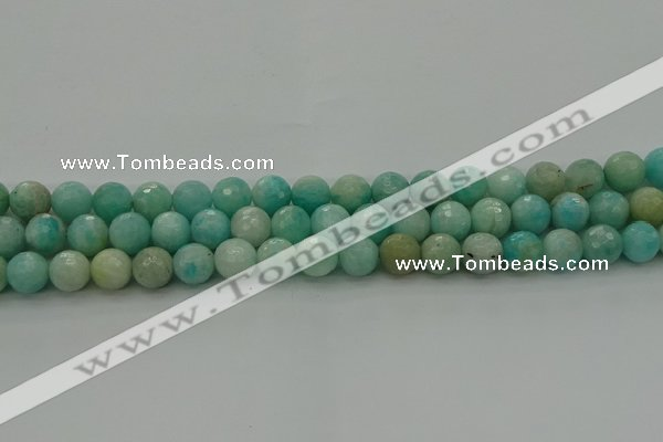 CAM1562 15.5 inches 8mm faceted round Russian amazonite beads