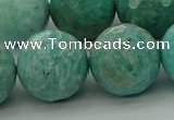 CAM1587 15.5 inches 18mm faceted round Russian amazonite beads