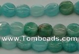 CAM1590 15.5 inches 6mm flat round Russian amazonite beads