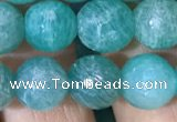 CAM1663 15.5 inches 10mm round Russian amazonite beads
