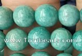 CAM1702 15.5 inches 6mm round Russian amazonite beads