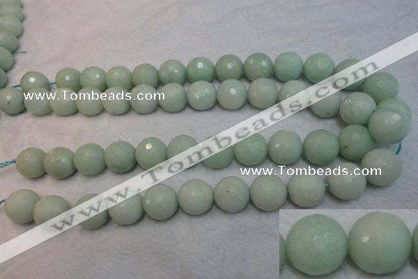 CAM181 15.5 inches 16mm faceted round amazonite gemstone beads